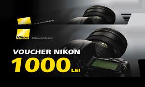 Voucher 1000 lei echipament Nikon