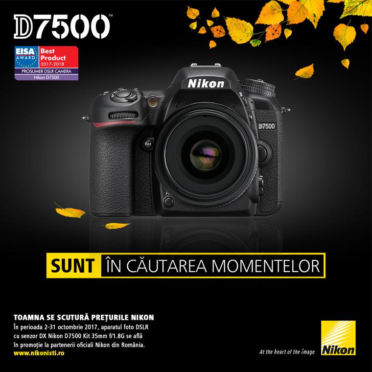 Promotie Nikon D7500 kit 35mm in promotie