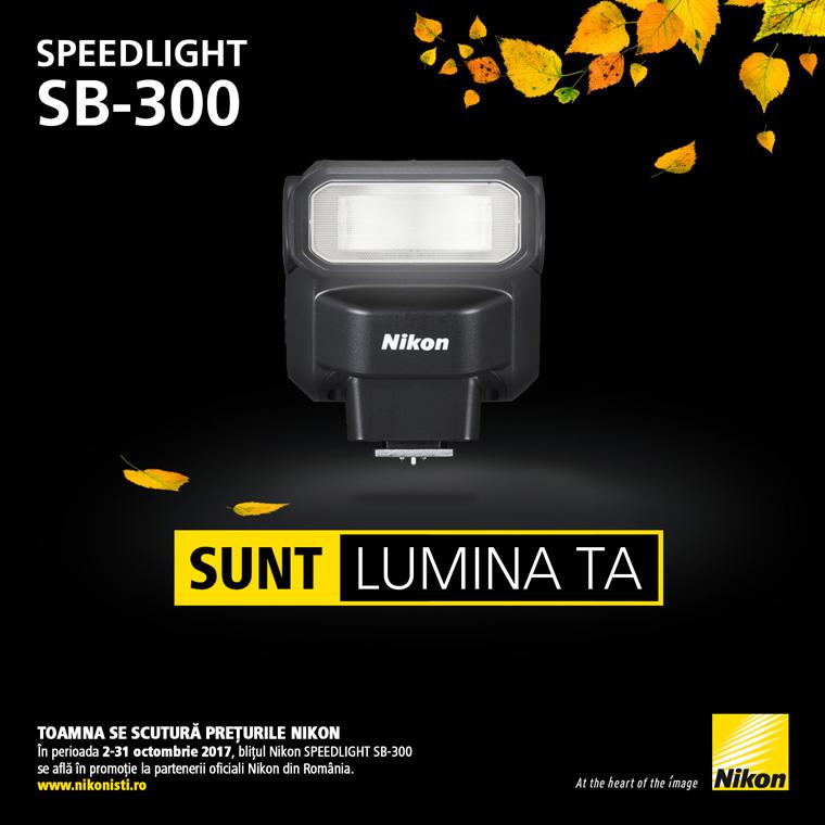 Promotie Nikon SpeedLight SB-300 in promotie