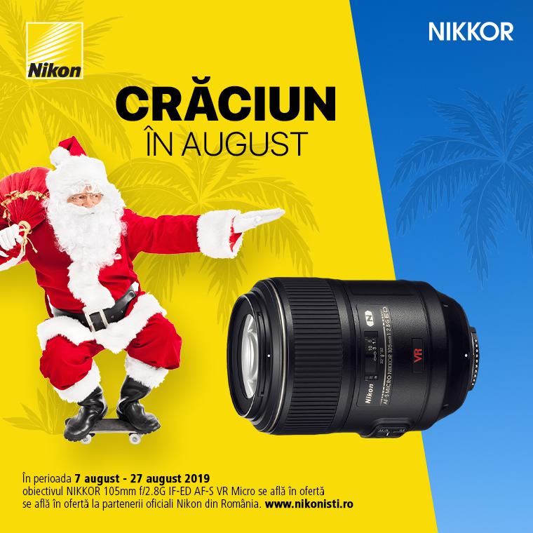 Promotie SUNT NIKKOR 105mm f/2.8G IF-ED AF-S VR MICRO IN PROMOTIE