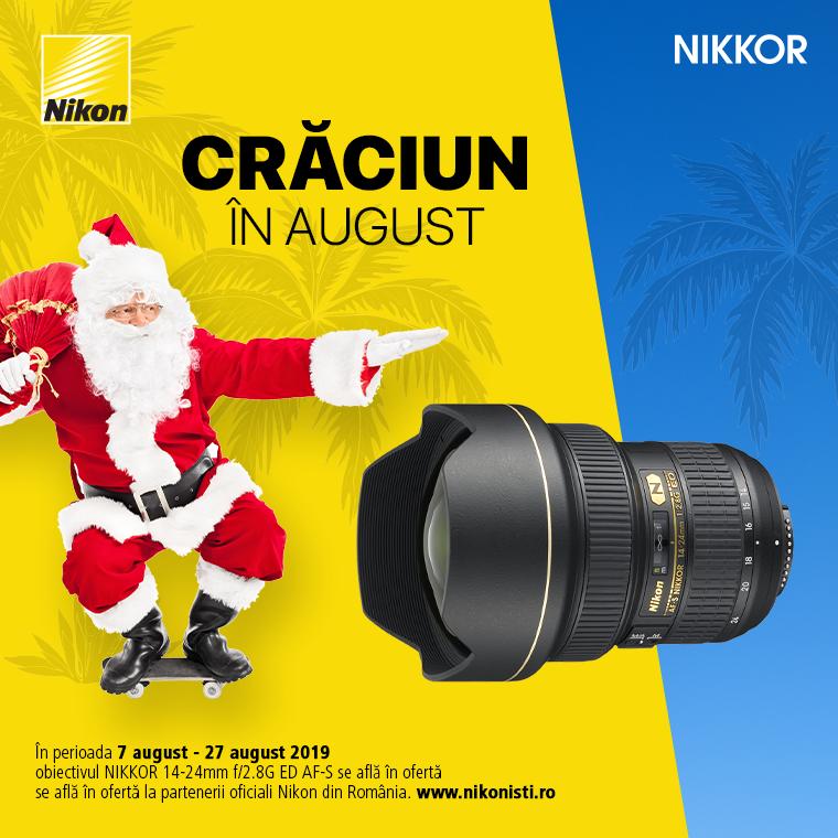 Promotie SUNT NIKKOR 14-24mm f/2.8G ED AF-S IN PROMOTIE