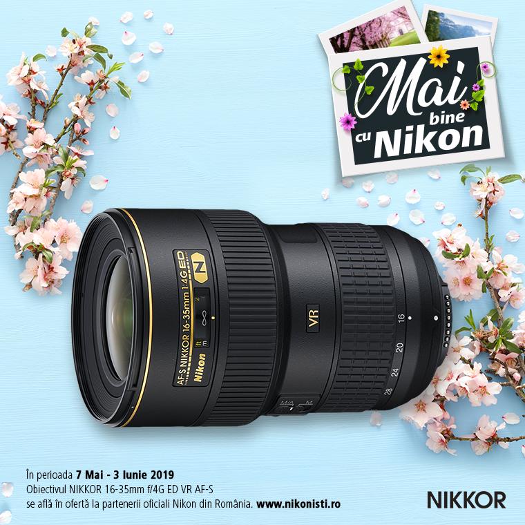 Promotie SUNT NIKKOR 16-35MM F/4G ED VR AF-S IN PROMOTIE