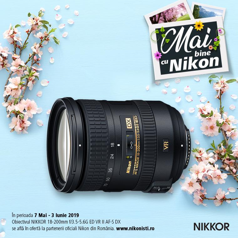 Promotie SUNT NIKKOR 18-200MM F/3.5-5.6G ED VR II AF-S DX IN PROMOTIE