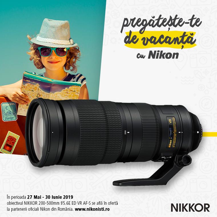 Promotie SUNT NIKKOR 200-500mm f/5.6E ED VR AF-S IN PROMOTIE