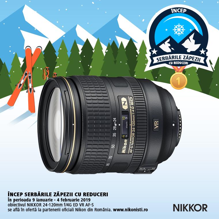 Promotie SUNT NIKKOR 24-120MM F/4G ED VR AF-S IN PROMOTIE