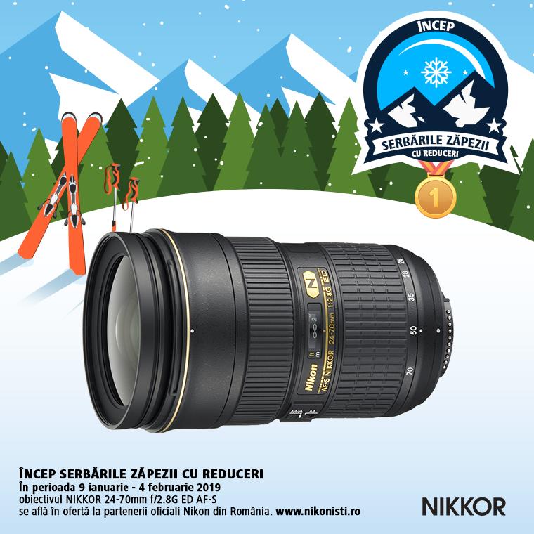 Promotie SUNT NIKKOR 24-70MM F/2.8G IN PROMOTIE