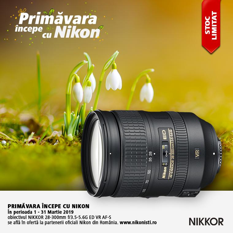 Promotie SUNT NIKKOR 28-300mm f/3.5-5.6G ED VR AF-S IN PROMOTIE