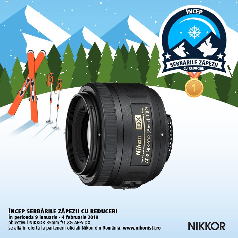 Promotie SUNT NIKKOR 35MM f/1.8G AF-S DX IN PROMOTIE