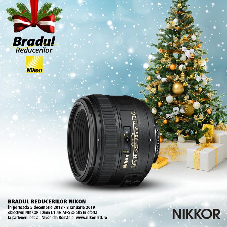 Promotie SUNT NIKKOR 50mm f/1.4G AF-S IN PROMOTIE