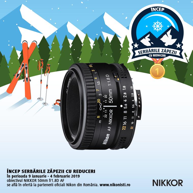 Promotie SUNT NIKKOR 50MM F/1.8D AF IN PROMOTIE