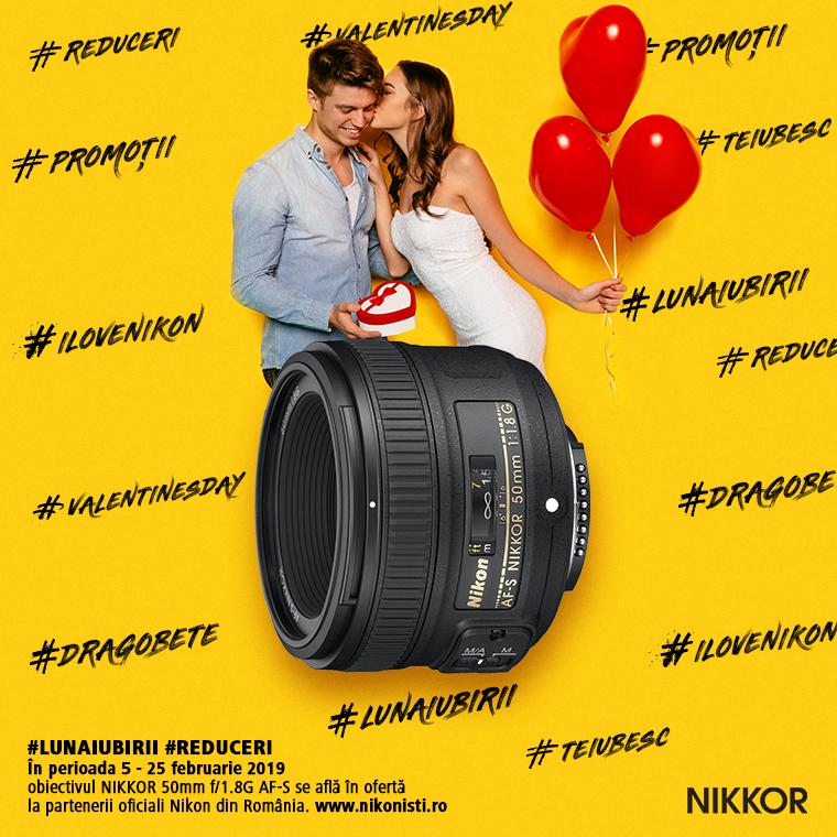 Promotie SUNT NIKKOR 50mm f/1.8G AF-S IN PROMOTIE