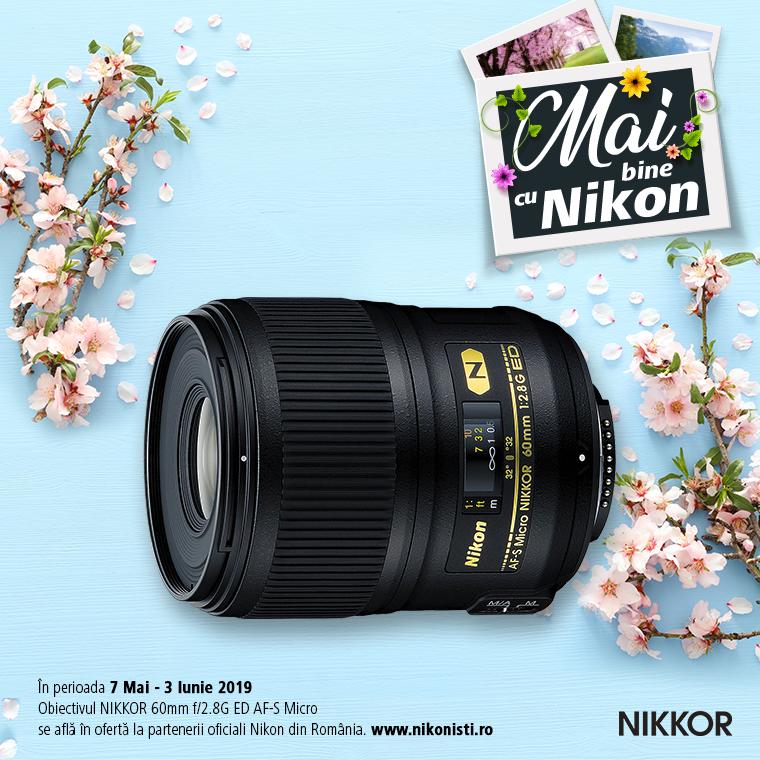 Promotie SUNT NIKKOR 60MM f/1.8G ED AF-S MICRO IN PROMOTIE