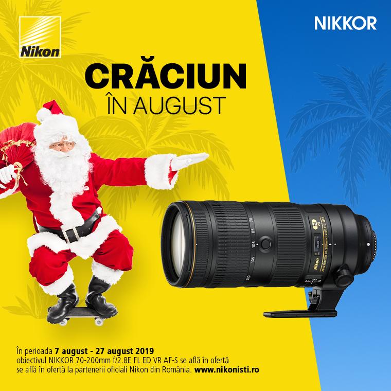 Promotie SUNT NIKKOR 70-200mm f/2.8E FL ED VR AF-S IN PROMOTIE
