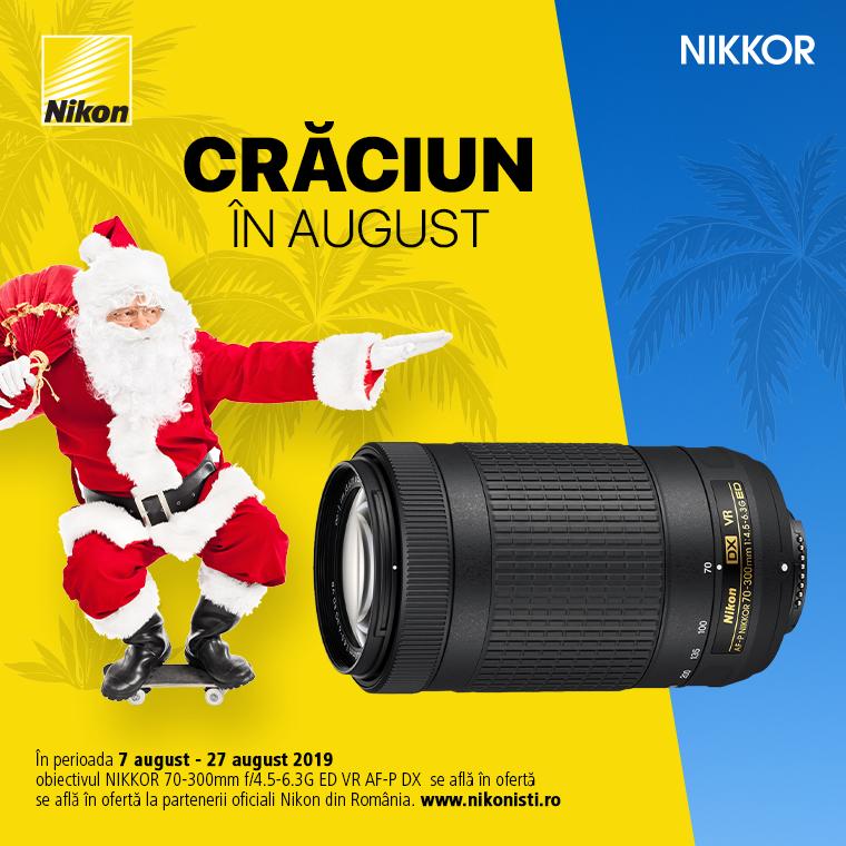 Promotie SUNT NIKKOR 70-300mm f/4.5-6.3G ED VR AF-P DX IN PROMOTIE