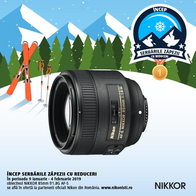 Promotie SUNT NIKKOR 85MM F/1.8G IN PROMOTIE
