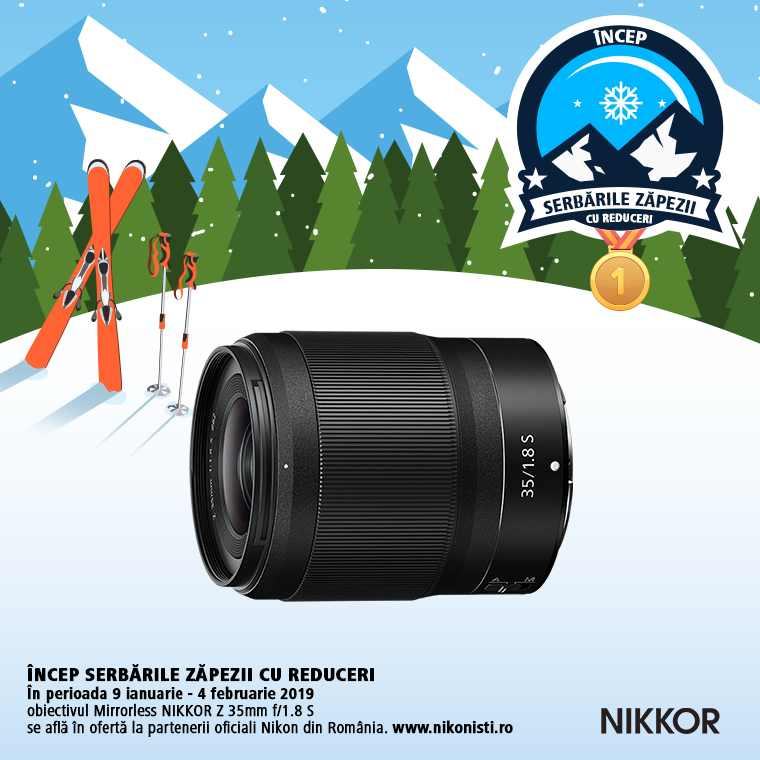 Promotie SUNT NIKKOR Z 35mm f/1.8 S IN PROMOTIE
