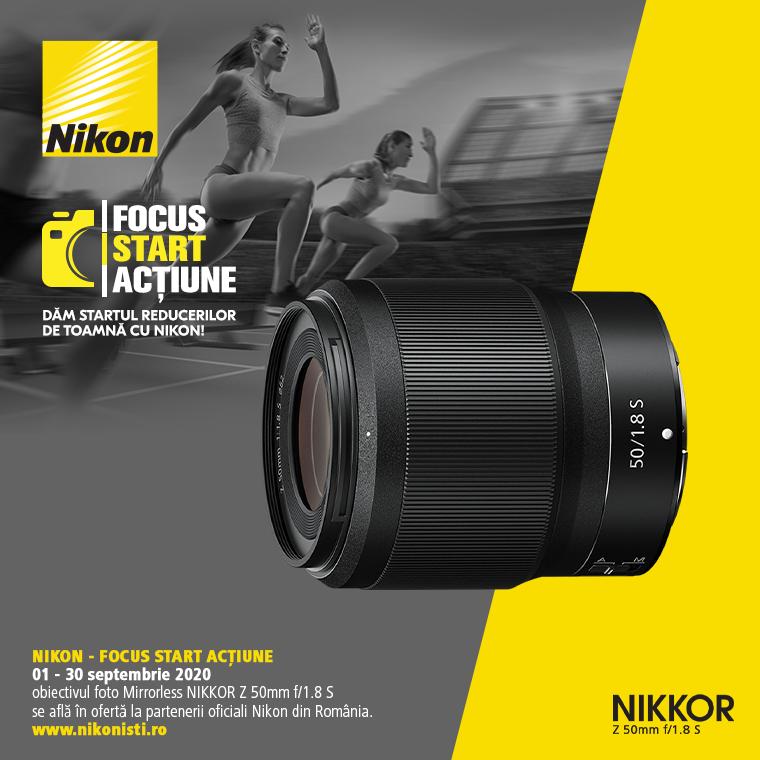 Promotie SUNT NIKKOR Z 50mm f/1.8 S IN PROMOTIE
