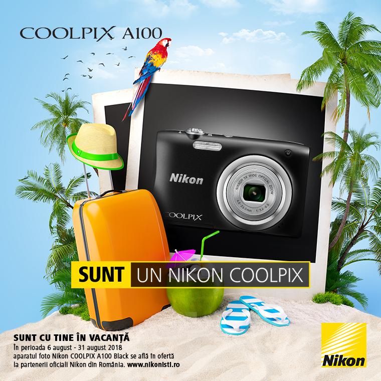 Promotie SUNT NIKON COOLPIX A100 IN PROMOTIE