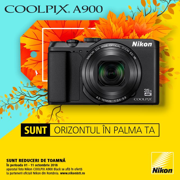Promotie SUNT NIKON COOLPIX A900 IN PROMOTIE