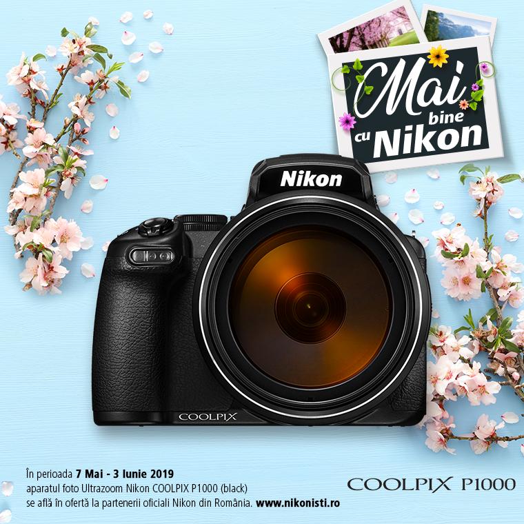 Promotie SUNT NIKON COOLPIX P1000 IN PROMOTIE