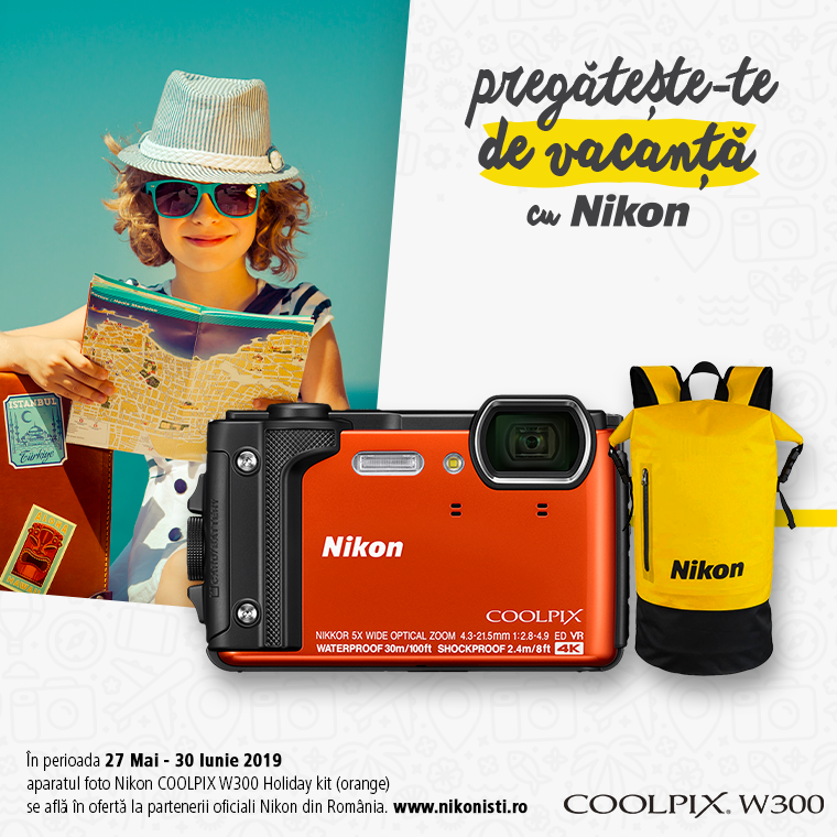 Promotie SUNT NIKON COOLPIX W300 IN PROMOTIE