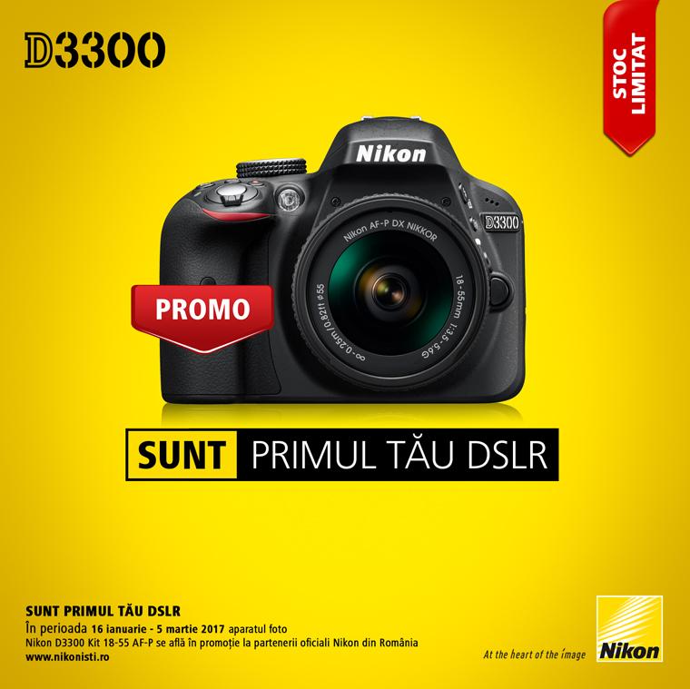 Promotie SUNT NIKON D3300