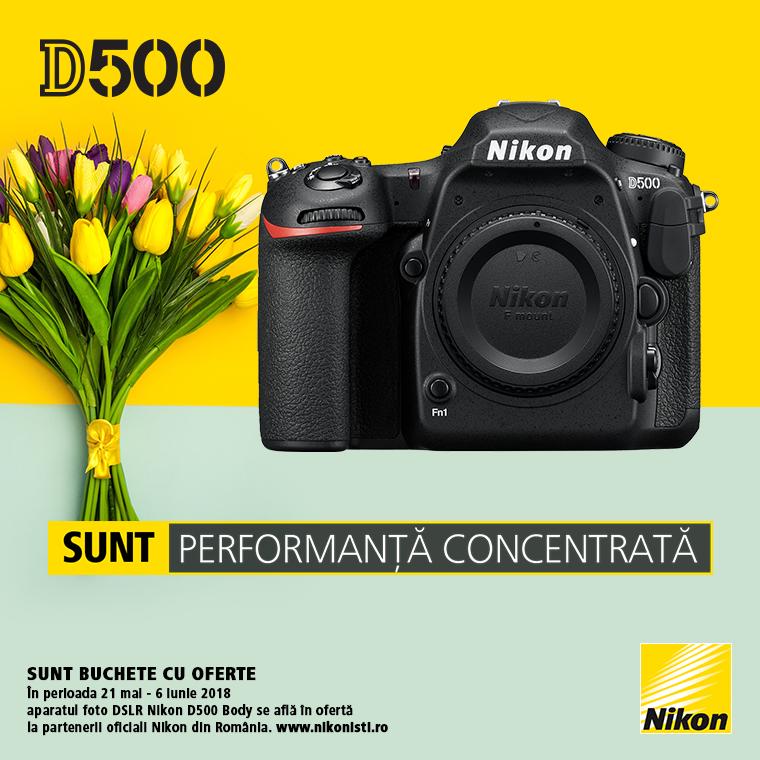 Promotie SUNT NIKON D500 LA OFERTA