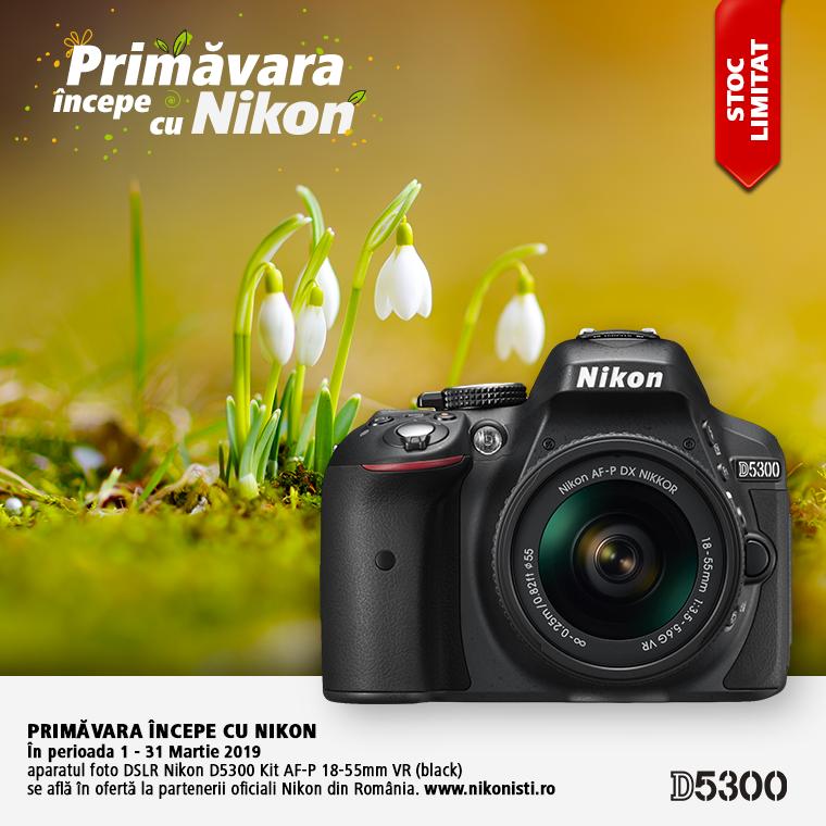 Promotie SUNT NIKON D5300 IN PROMOTIE