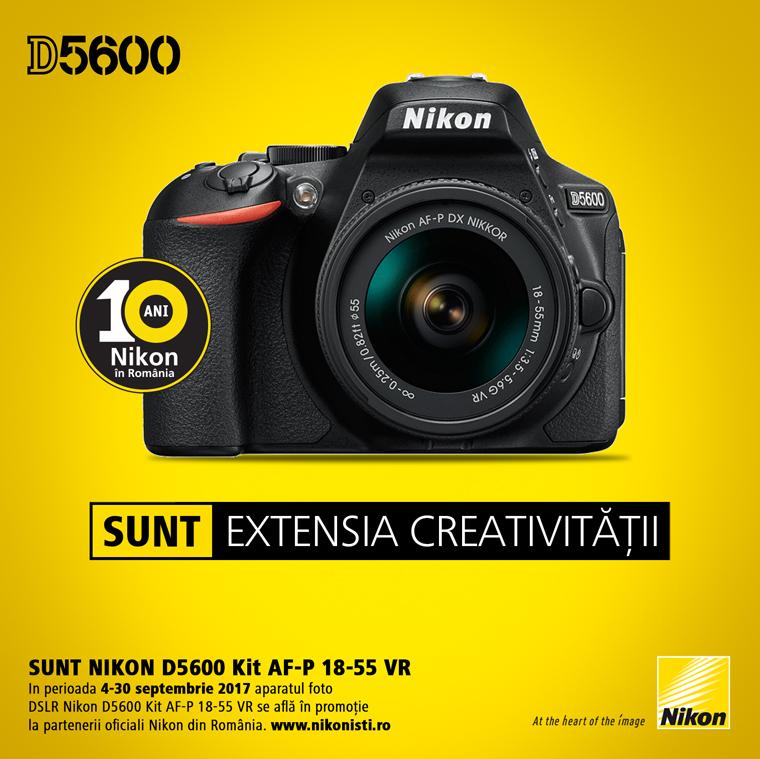 Promotie SUNT NIKON D5600 KIT 18-55 VR AF-P
