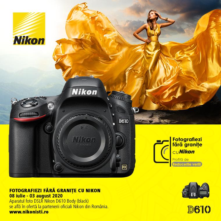 Promotie SUNT NIKON D610 IN PROMOTIE