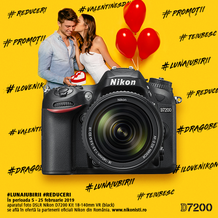 Promotie SUNT NIKON D7200 IN PROMOTIE