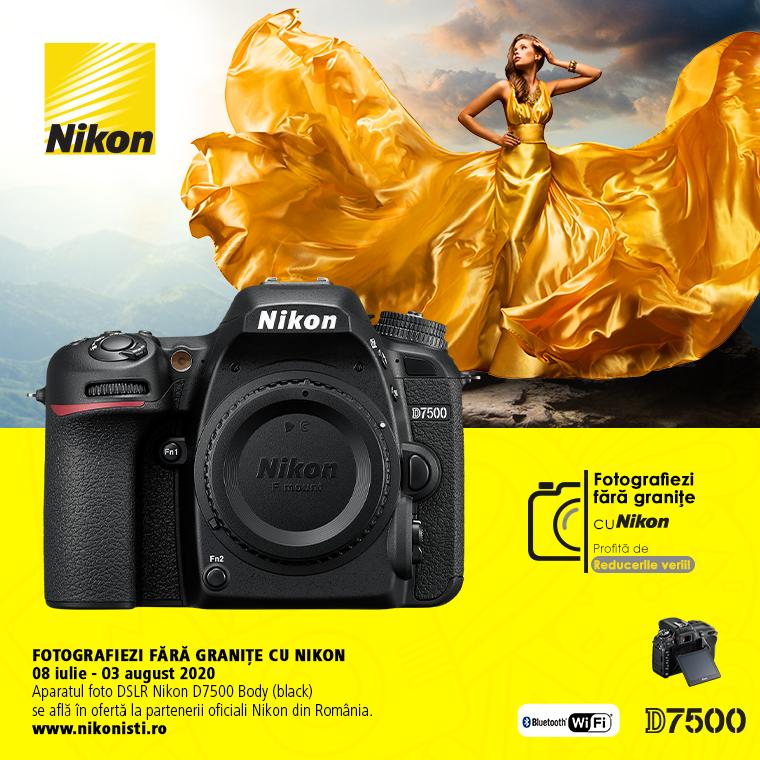 Promotie SUNT NIKON D7500 IN PROMOTIE