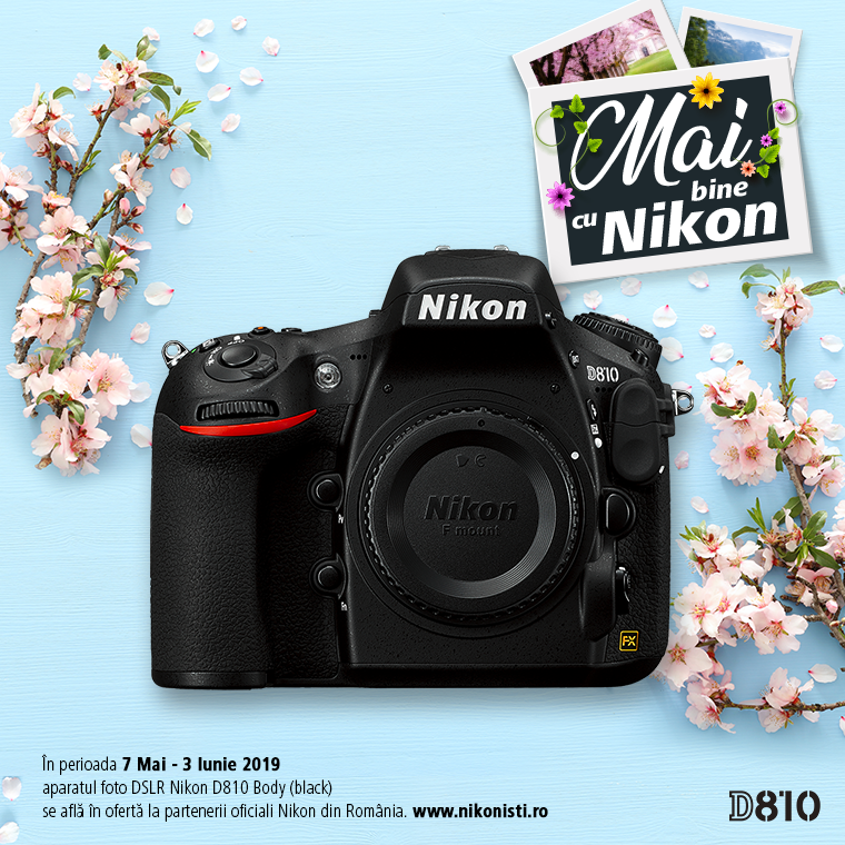 Promotie SUNT NIKON D810 IN PROMOTIE