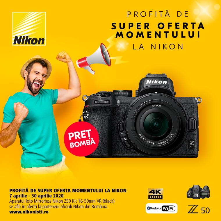 Promotie SUNT NIKON Z50 IN PROMOTIE