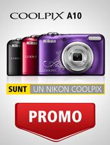 In perioada 6-31 martie 2017 aparatele foto Nikon COOLPIX A10 (red,   se afla in promotie la partenerii oficiali Nikon din Romania