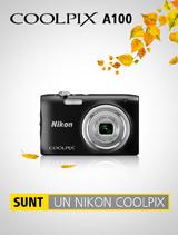 In perioada 2-31 octombrie 2017, aparatul foto Nikon COOLPIX A100 (black) se afla in promotie la partenerii oficiali Nikon din Romania. www.nikonisti.ro