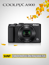 In perioada 2-31 octombrie 2017, aparatul foto Nikon COOLPIX A900 (black) se afla in promotie la partenerii oficiali Nikon din Romania. www.nikonisti.ro