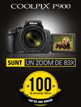 In perioada 12 iunie - 20 august 2017 aparatul foto Nikon COOLPIX P900 se afla in promotie la partenerii oficiali Nikon din Romania.