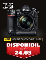 Nikon D5 disponibil din 24 martie 2016