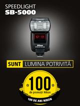 In perioaa 26 iunie - 20 august 2017, blitul Nikon SPEEDLIGHT SB-5000 se afla in promotie la partenerii oficiali Nikon din Romania