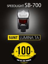 In perioada 12 iunie - 20 august 2017 blitul Nikon SPEEDLIGHT SB-700 se afla in promotie la partenerii oficiali Nikon din Romania.