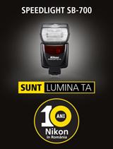 In perioada 4-30 septembrie 2017, blitul Nikon Speedlight SB-700 se afla in promotie la partenerii oficiali Nikon din Romania
