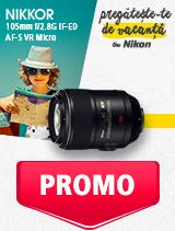 In perioada 27 mai - 30 iunie 2019 obiectivul NIKKOR 105mm f/2.8G IF-ED AF-S VR MICRO se afla in oferta la partenerii oficiali Nikon din Romania. www.nikonisti.ro