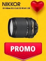 In perioada 5 - 25 februarie 2019 obiectivul NIKKOR 18-140mm f/3.5-5.6G ED VR AF-S DX se afla in oferta la partenerii oficiali Nikon din Romania. www.nikonisti.ro