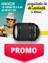 In perioada 27 mai - 30 iunie 2019 obiectivul NIKKOR 18-140mm f/3.5-5.6G ED VR AF-S DX se afla in oferta la partenerii oficiali Nikon din Romania. www.nikonisti.ro