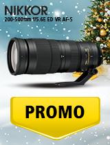 In perioada 5 decembrie 2018 - 8 ianuarie 2019 obiectivul NIKKOR 200-500mm f/5.6E ED VR AF-S se afla in oferta la partenerii oficiali Nikon din Romania. www.nikonisti.ro