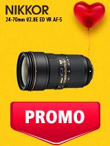 In perioada 5 - 25 februarie 2019 obiectivul NIKKOR 24-70mm f/2.8E ED VR AF-S se afla in oferta la partenerii oficiali Nikon din Romania. www.nikonisti.ro