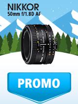 In perioada 9 ianuarie - 4 februarie 2019 obiectivul NIKKOR 50mm f/1.8D AF se afla in oferta la partenerii oficiali Nikon din Romania. www.nikonisti.ro