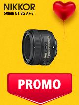 In perioada 5 - 25 februarie 2019 obiectivul NIKKOR 50mm f/1.8G AF-S se afla in oferta la partenerii oficiali Nikon din Romania. www.nikonisti.ro
