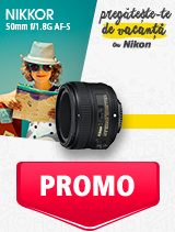 In perioada 27 mai - 30 iunie 2019 obiectivul NIKKOR 50mm f/1.8G AF-S se afla in oferta la partenerii oficiali Nikon din Romania. www.nikonisti.ro